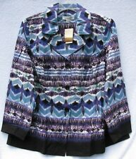 "Coldwater Creek ""Plum Crazy"" Geometric Ikat Jacket"
