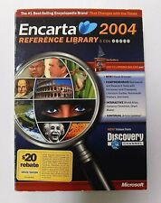 """""""Brand New"""" Encarta 2004 Reference Library 5 Cd's Factory Sealed"""
