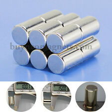5pcs 10mm dia x15mm Thick N35 Strong Neodymium Rod Magnets Walmart Powerfull DIY