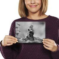 A5 bw - Baby Baboon Animal Monkey Print 21x14.8cm 280gsm #35241