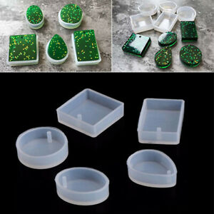 5Pcs/set Silicone Mould Resin Decor Craft Jewelry Making Mold Epoxy Resin Molds