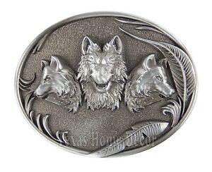 Western Wolf Moon Men's Alloy Leather Belt Buckle Vintage Cowboy Buckle New