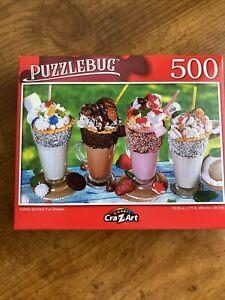 Puzzlebug-500 Piece Puzzle-Yummy Summer Fun Shakes, BN 18.25x11 FREE SHIPPING