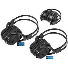 2 New Foldable Wireless DVD Headphones Headset W/ Battery For GMC Buick Truck