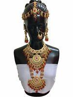 New Ethnic Designer Bollywood Indian Wedding Bridal Fashion 8 PC Jewelry Set