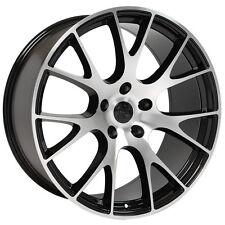 "22"" Hellcat Style Wheels For Dodge Ram 1500 Dakota Durango Black Machined 22x10"