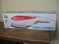 New! Total Vision Travel Steamer : Portable w 2 Brush Attachments