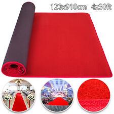 4x30ft Red Carpet Aisle Runner Decor Party Decor Floor Rug Prevent fraying