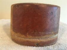 vtg square crown wood hat block /MILLINERY WOOD BLOCK HAT MAKING/FORM/MOLD/BRIM