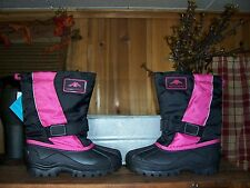 ARTIC RIDGE GIRLS WINTER BOOTS SIZE 3M COLOR BLACK PINK TEMP RATED 40 TO -22 NEW