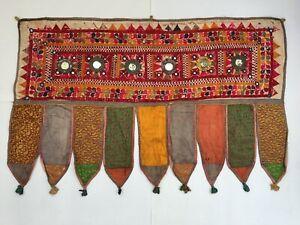 India Vintage Home Decor Bohemian Hand Embroidery Door Toran Valance Hanging