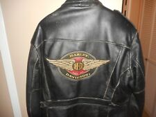"Vintage Men's Harley Davidson Wings Leather 90""s Original Jacket L Rare & HTF"