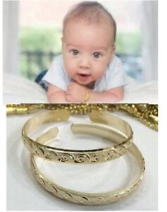 Baby no Personalized 14K gold overly Bracelet Bangle /adjustable/two pice