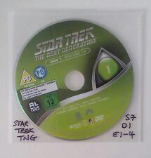 Star Trek The Next Generation - Season 7 Disc 1 Eps 1-4 - R2 -  DVD DISC ONLY