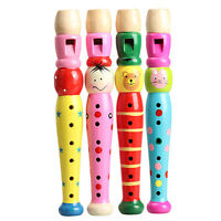 Wooden Plastic Kid Piccolo Flute Whistle Musical Instrument Early Education Toy