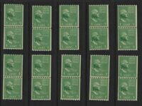 1939 PREXY COILS Sc 848 MNH line pairs & pairs lot of 5 each