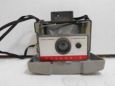 Vintage Polaroid Automatic 104 Land Camera Instant Film w/ Flash & Neck Strap