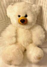 Handmade Peruvian 100% Baby Alpaca Fur Teddy Bear (13 inches approx) White Gift