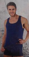Herren Achselhemd Unterhemd 2er Pack blau Gr. M 5,  L 6, XL 7, XXL 8