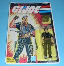 *RECARDED* 1985 GI Joe Flint v1 Figure Complete Sealed *CUSTOM File Card Back*