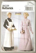 Butterick Sewing Pattern B6229 Miss Servant Maid Apron Long Dress Costume 14-22
