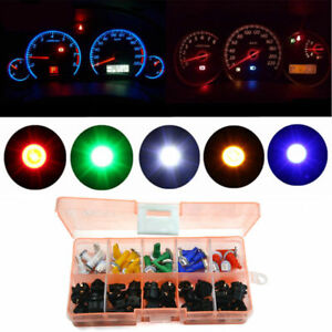 30X Car T5 LED Twist Socket Instrument Panel Cluster Plug Dash Lamp Auto Light