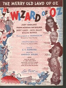 Merry Old Land of Oz 1939 The Wizard of Oz Judy Garland Sheet Music
