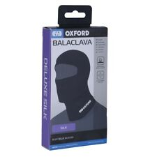 Oxford Deluxe Motorcycle Balaclava Motorbike Face Mask Neck Warmer Silk Black