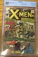 The X-Men #9 (Jan 1965, Marvel) CBCS graded 2.0 (not CGC)