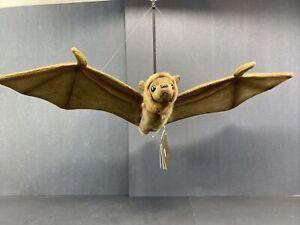 HANSA Stuffed Animal Lifelike Flying Fox Bat Looks Real New W/ Tags Hangs LARGE