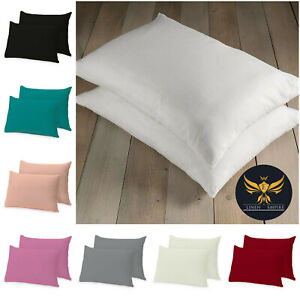 2 Pack Extra Filled Pillows Bounce Back, Deluxe Or Pillowcases Pair Pack
