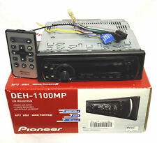 Pioneer DEH-1100MP Car Stereo CD Receiver Player w Remote Aux In MP3 WMA