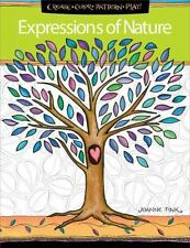 EXPRESSIONS OF NATURE ADULT COLORING BOOK - FINK, JOANNE - NEW PAPERBACK BOOK