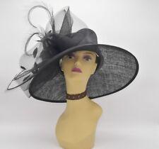 7d753e6ee2a00 M826( Black )Kentucky Derby Church Wedding Royal Ascot Sinamay Wide Brim hat