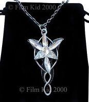 VINTAGE Arwen Evenstar Necklace LOTR Lord Of The Rings Hobbit Antique AGED +Bag