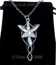 VINTAGE Arwen Evenstar Necklace LOTR Lord Of The Rings Hobbit Antique AGED +Bag