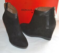 4a14b99f5b56 Donald J Pliner Chez-kid Suede Black Wedge Bootie Boot Ankle Sz 10