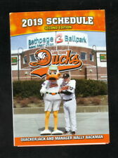 Wally Backman--Long Island Ducks--2019 Pocket Schedule--Subway--Atlantic League