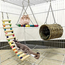 3Pcs Hammock Rat Squirrel Hamster House Hanging Bed Cage Toys Sugar Glider Toys