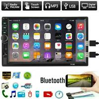 """7"""" Double 2 DIN Touch Screen Car Stereo Radio Bluetooth USB AUX IN MP5 + Camera"""