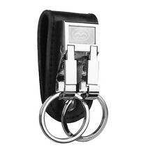 Stainless Steel Belt Buckle Clip Key Ring Holder Keychain 2 Loops Key Chain