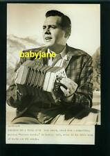 DESI ARNAZ VINTAGE 7X9 PHOTO 1956 FOREVER DARLING SINGING & PLAYING A CONCERTINA