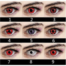 2X Halloween Cosplay Color Contact Lenses Crazy Circle Big Eyes Makeup Beauty