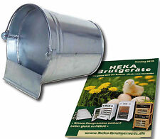 2x Bucketdrink Made of Metal, Zinc Plated, 12l - Poultry Drinker - @ Heka: 2x