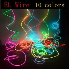 1M Neon Light Dance Party Decor Led lamp Flexible El Wire Rope Tube Waterproof