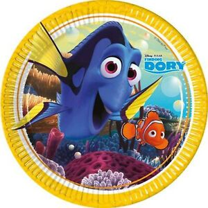 DISNEY - FINDING DORY PACK OF 8 PAPER PLATES - ROUND
