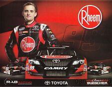 2014 James Buescher Rheem Toyota Camry NASCAR Nationwide postcard