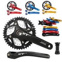 MEIJUN 9/27 Speed Hollow MTB Bike Crankset 22/32/44T Chainring 104BCD Crank BB