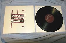 New Order FACT. 50 MOVEMENT Vinyl LP 1981-1982 USA Re-Press