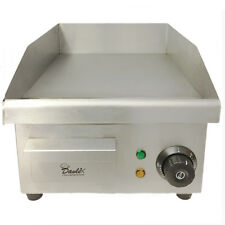 Commercial Electric Griddle Hotplate Burger Bacon Egg Fryer Grill,380mm x 280mm